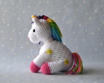Unicorn Rainbow, amigurumi snowman, Unicorn Unicorn, Unicorn soft, white Unicorn, Unicorn Rainbow