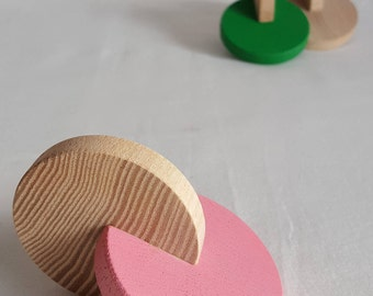 Hochet Montessori 2 disques, couleur au choix - Mastro Jouets
