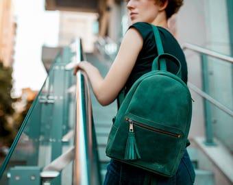 Women's backpack «Limbo» / City backpack, leather backpack, Women leather backpack, Laptop backpack , Travel backpack, Handmade leather bag