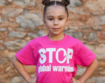 Stop global warming shirt, kids climate change shirt, kids revolution tee, protest shirt, earth day shirt, global warming shirt, kids future