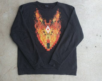 Marcelo Burlon Sweater County of Milan Fire Wolf Crewneck Sweater County of Milan Hoodie