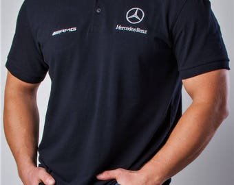 Mercedes Benz AMG Polo shirt, Embroidery logos, Best offer. Free Shipping