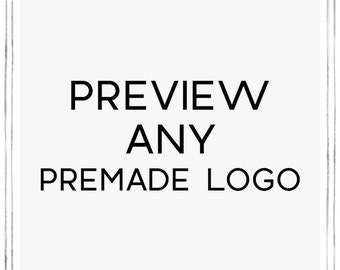 Logo Design Preview, Premade Logo Design and Watermark for Photographers and Small Business, Custom Logo Design