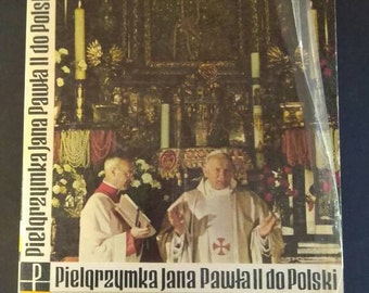 Pope John Paul II Visit to Poland Book , 1979 , Polish Language Book , Warsaw Poland
