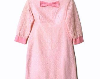 Vintage 1960s Bubblegum Pink Dress