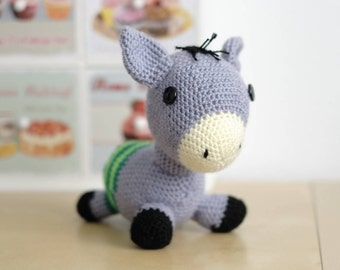 Mr. Donkey, Amigurumi, Chochet, animal decoration