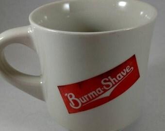 Burma shave cup, Retro design,