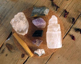 Crystal Kit ~ Aura Protection & Chakra  Cleansing