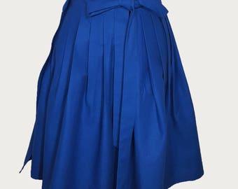 Hanbok  (Costume) Linen Midi Wrap Skirt