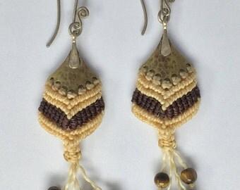 Silver & Brass Macrame Earrings