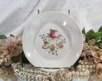 Alfred Meakin England, Royal Ironstone China, Tea Saucer, Moss Rose Pattern, 1800's