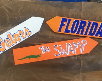 Florida Gators, College signs, College Football Signs, Destination signs, Custom Directional sign, Personalized sign, tiki bar sign