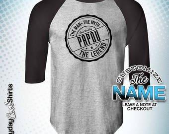 Papou The Man The Myth The Legend, Papou Gift, Papou Birthday, Papou Tshirt, Papou Gift Idea, Baby Shower, Pregnancy Association