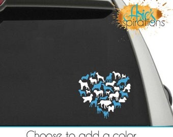 Dog Car Decals, Dog Lover Decal, Pet Car Decals, Dog Heart Decal, Car Decals, Pet Lover Decal, Pet Stickers