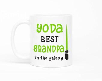 Yoda Best Grandpa Mug,Grandpa Mug,Fathers Day Gift,Grandpa Gift,Star Wars Grandpa,Best Grandpa Mug,Grandpa Birthday Gift Idea,Grandad Gift