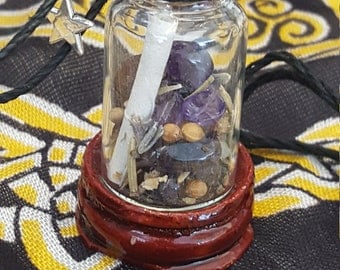 Magic Wicca Spell Sage Jar Happiness