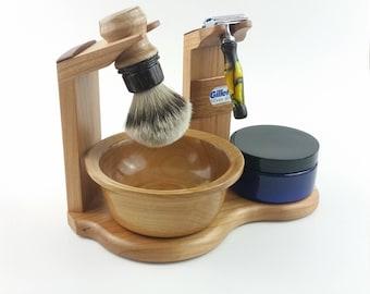Wet Shave Stand & Display - Cherry and Jatob - Custom Handmade