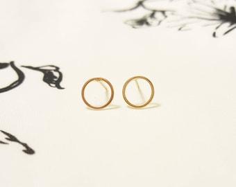 Small Hoop Earrings, Gold Hoop Earrings, Silver Hoop Earrings, Circle Earrings, Simple Hood Earrings, Gold Stud Earrings, Geometric Earrings