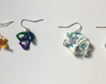 Melted Straw Earrings