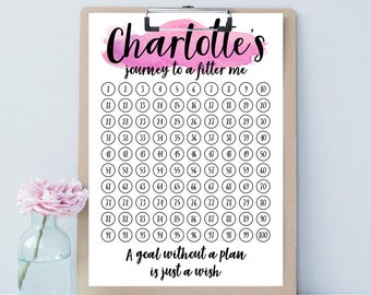 Personalised goal setting and tracking duo print- perfect for setting & sticking to 2018 New Years resolutions
