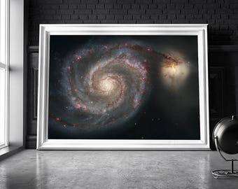 Galaxy print / Space poster / Space art  print / Universe print / Outer space art / Nasa poster / Galaxy art  / Hubble telescope /