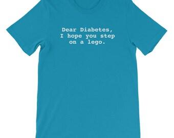Diabetes Diabetic Awareness Humorous Short-Sleeve Unisex T-Shirt