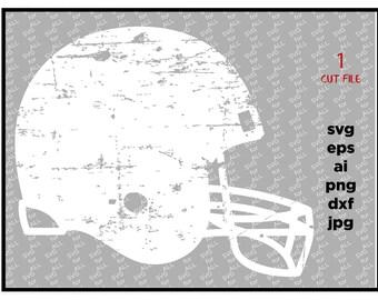 football helmet SVG Cut File distressed football svg DXF cut file Cricut svg Silhouette svg Vinyl Cut File Digital cut file Cricut cut file