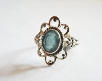 Silver Bohemian Flower Ring