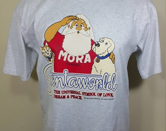 Santa World TShirt 90s SantaWorld FROM MORA SWEDEN Shirt Size L