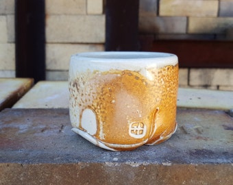 Soda fired Whiskey cup, Ceramic cup, Yunomi, Tea bowl, cups