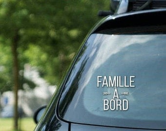 "Sticker "" Famille à bord "" - vinyl on decal paper – car stickers"