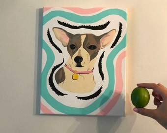 Pet Acrylic canvas paintings (Request your pet! or buy this one)