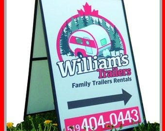A-Frame Sign, Metal A Frame, two sided printed sign,  includes 2 laminate prints with your design on 4mm Coroplast