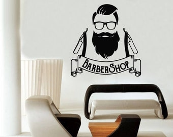 Barber Shop Murals Etsy - Custom vinyl wall decals for hair salonvinyl wall decal hair salon stylist hairdresser barber shop