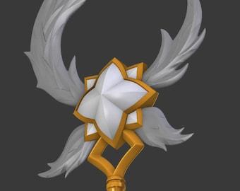 Star Guardian Soraka Staff League of Legends  LOL  3D print Model