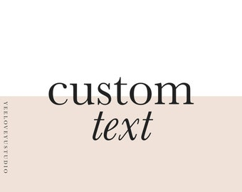 Add On: Custom Text To Any Instant Download