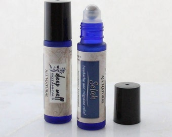 Selah | Headache & Migraine Relief | Roll-on | Natural | Essential Oils | Rollerball | 10 ml | Charity