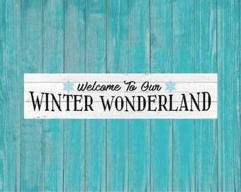 Winter Welcome Sign, Winter Wonderland, Magnolia Farms Christmas SVG, Fixer Upper Christmas Sign, Joanna Gaines, Vector, DXF, Print, Poster