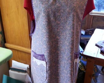 Lavender Plus-Size Apron - Fully Lined