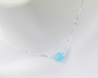 Blue Chalcedony Gemstone Necklace