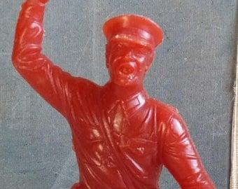 Thor Soldier Warrior Soviet Military Plastic Antique Statuette Toy Figurine  Vintage  1970 USSR Toy