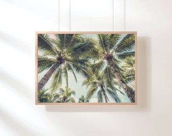 Palm Trees Print - Tropical Wall Art, Digital Download, Hawaii Art, California Print, Landscape Photography, Nature Art, Large Poster Print