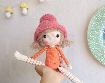 "Finished Amigurumi Doll ""Momo"""