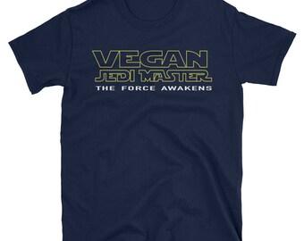 Jedi tshirt, Jedi Master tshirt for vegans, Vegan Jedi, Vega Jedi Tee, Vegan Star Wars T-shirt, Jedi master shirt, Vegan t shirt, Unisex