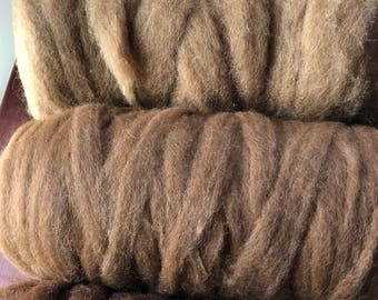 Premium Grade 1 Natural Colors Paco-Vicuna Roving- Sold by the Ounce- for Spinning, Knitting, Crochet, Weaving, Textiles, Fiber Arts