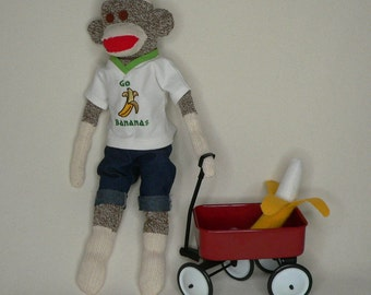 Go Bananas Sock Monkey - This One Has a LOT of Energy