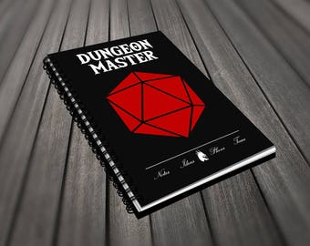 D&D Notebook - Dungeon Master D20 - Spiral 120 Pages Lined Notebook Journal Perfect For Dungeon Master Game Master Dungeons and Dragons