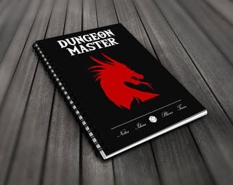 D&D Notebook - Dungeon Master Dragon - Spiral 120 Pages Lined Notebook Journal For Dungeon Master Game Master D20 Dungeons And Dragons