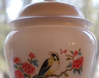 Vintage Avon Dynasty Ginger Jar Milk Glass 1970's