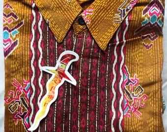 long sleeve Indonesian batik shirt